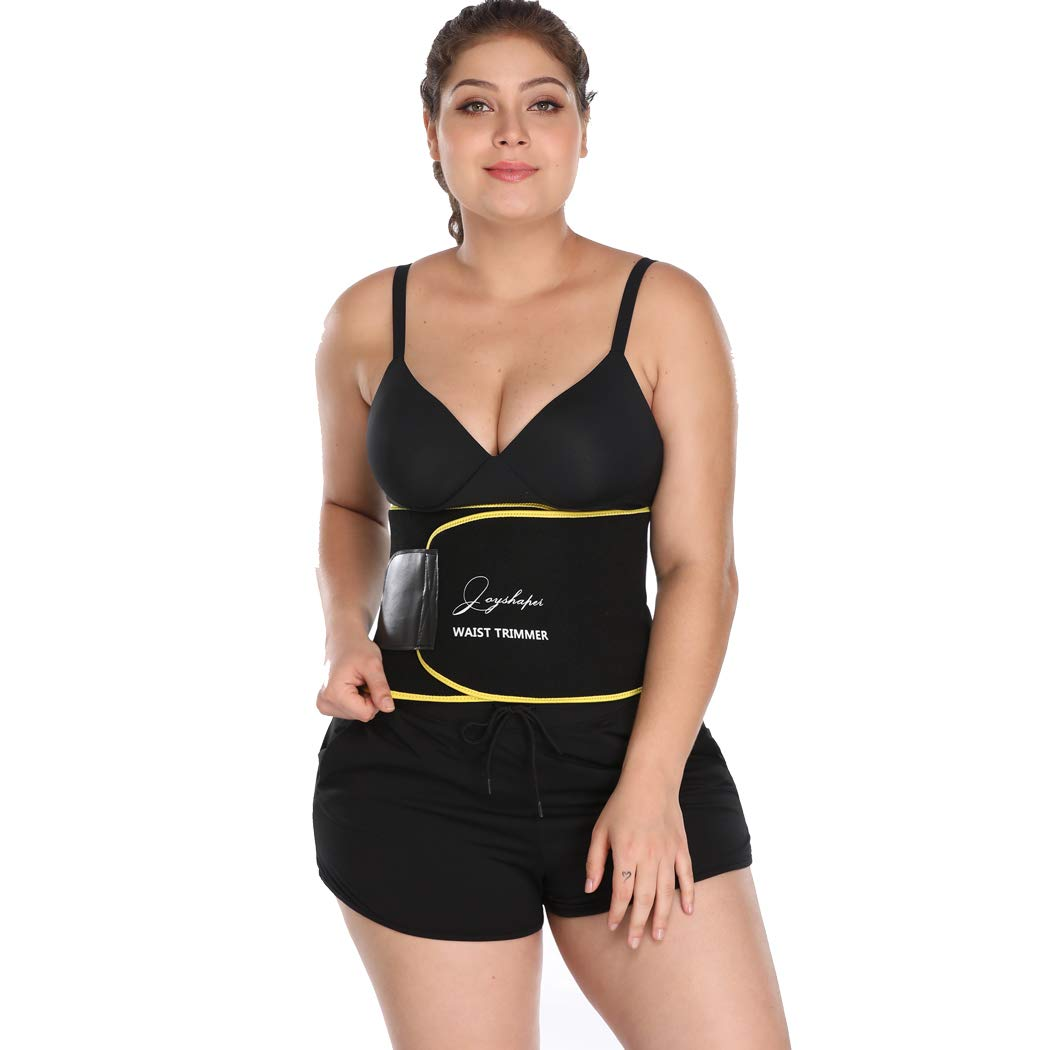 Joyshaper Waist Trimmer Ab Sauna Belt for Women Adjustable Weight Loss Wrap Stomach Fat Burner Waist Trainer Belt