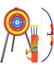 SooFam Archery Shooting toy Set - Include Target, Bow, Arrow - Durable Archery Game - Indoor Outdoor Toys, Garden Fun Game for Kids Age 6 and Up