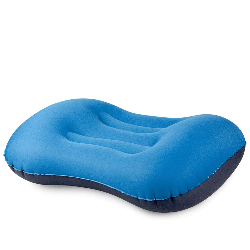 ZOUQILAI Inflatable Travel Pillow Portable Waist Pad Home Outdoor Travel Pillow Neck Travel Adult Children Siesta Cushion Multi-Color Optional (Color : Blue)