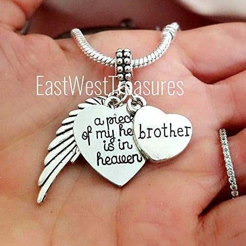 Amazon Com Loss Of Brother Memorial Charm Bracelet