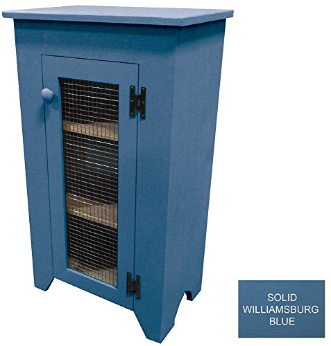 Cottage Style Cabinet with Screen Door (Solid Willliamsburg Blue) by Sawdust City