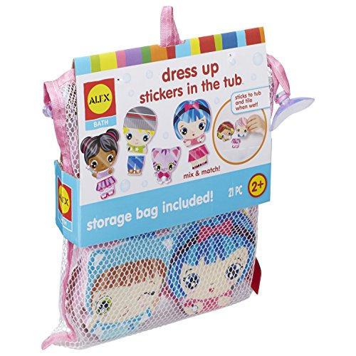 ALEX Bath Dress Up Stickers in the Tub