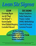 Lean Six Sigma Poster 22' X 28', Made in The USA