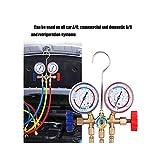 Refrigerant Manifold Gauge Set Air Conditioning Tools with Hose and Hook for R12 R22 R404A R134A Air Condition Refrigeration