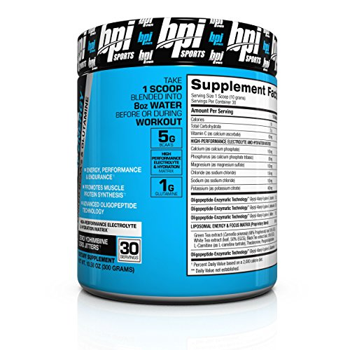 BPI Sports Best Aminos with Energy Peptide Linked BCAAs and Glutamine Supplement, 10.58 Ounce