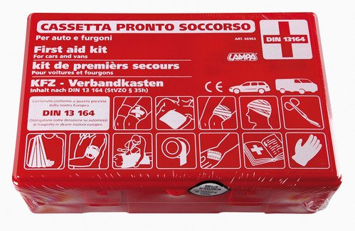 Lampa First aid kit for car Standards din 13164 - Box