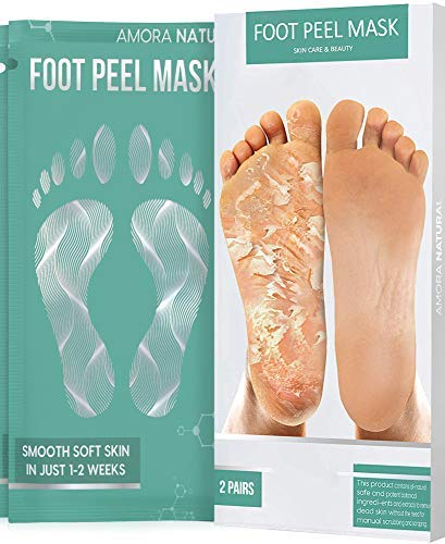 Foot Peel Mask for Cracked Heels, Dead Skin & Calluses - Make Your Feet Baby Soft & Get Smooth Silky Skin - Removes & Repairs Rough Heels, Dry Toe Skin - Exfoliating Peeling Natural Treatment (2-Pack)