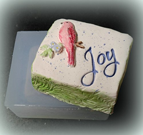 Silicone Mold of Love, Joy, Peace, Blessings Silicone Soap Candle Mold from Laurel Arts