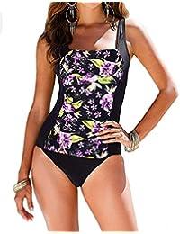3103064b06437 Vintage Women s Tummy Control Monokini One Piece Swimsuit Retro Bathing Suit
