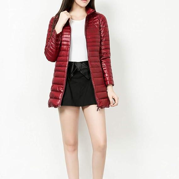 Amazon.com: AOJIAN Women Jacket Long Sleeve Outwear Light Weight Puffer Zipper Slim Pure Color Coat Watermelon Red: Clothing