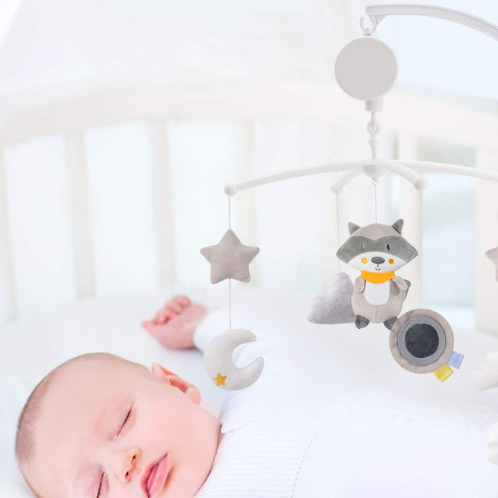 Wuxi Chuannan Baby Crib Decoration Newborn Gift,Plush Baby Musical Crib Mobile Hanging Rotating Rattles Nursery Room Mobile Set for Baby Boys Girls