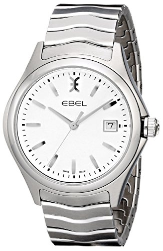 EBEL-Mens-1216201-Wave-Analog-Display-Swiss-Quartz-Silver-Watch