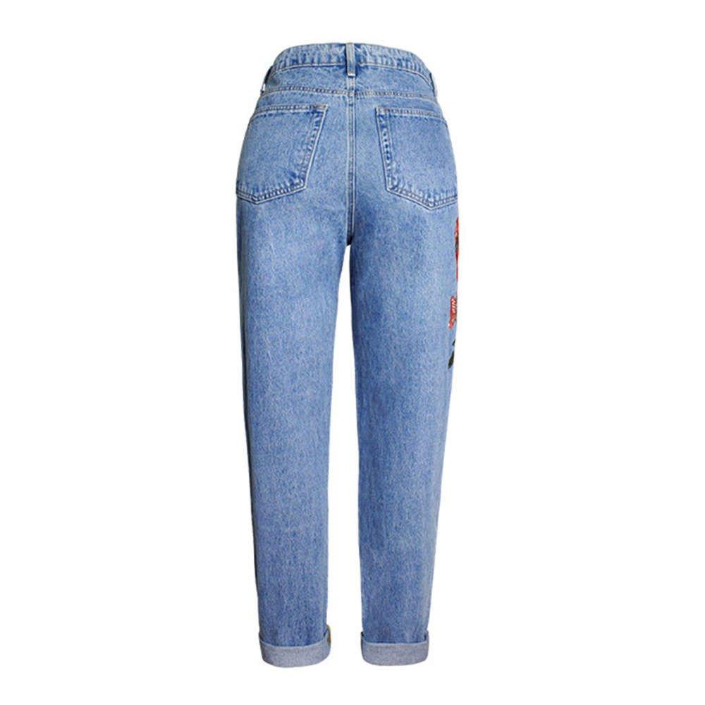 JMETRIC Damen Jeans|Gerade Jeans|Lose Hosen|Lose Jeans|High