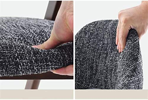 YJT.cy Chaise de Salle à Manger Noyer Chaises de Bureau Tissu Doux Rembourré Chambre Forte et Durable Premium Heavy Duty (52 × 46 × 81 cm) Gris
