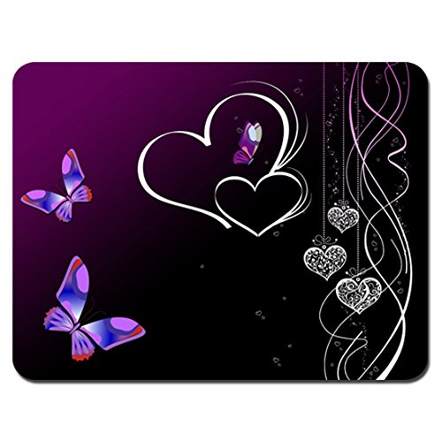 Meffort Inc Standard 7 X 9 Inch Mouse Pad - Purple Heart But