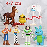 7 pcs/set Toy Story 4 Buzz Lightyear Woody Jessie Lotso Bullseye Horse Figure Toys
