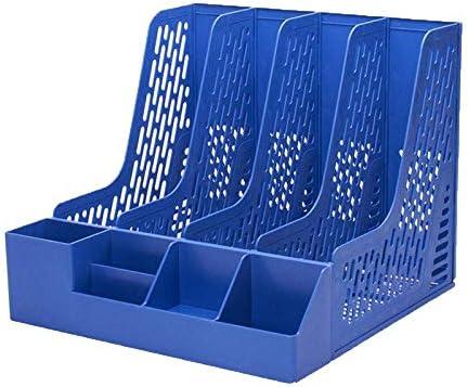 WSJTT Document Organizer Zeitschriftenablage Book Holder Desktop Organizer (Color : Blue)