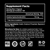 Creatine HCL Capsules - Creatine Supplement Pills for Muscle Size and Strength - CreHD (120 Capsules)