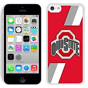 Beautiful And Popular Designed With Ncaa Big Ten Conference Football Ohio State Buckeyes 6 Protective Cell Phone Hardshell Cover Case For iPhone 5C Phone Case Black