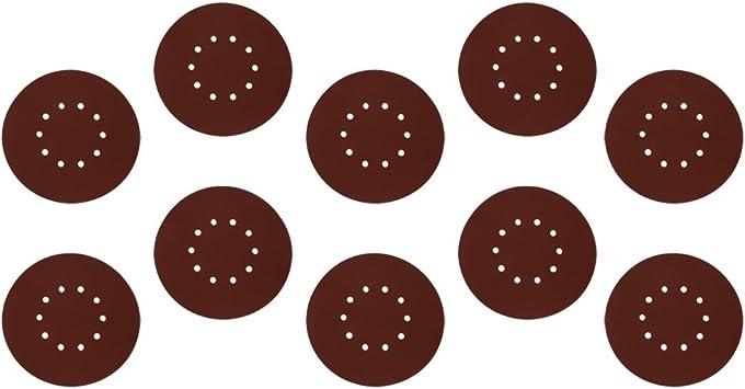 60# FLAMEER 10x Feuilles De Polissage Disques D/érouiller Papier Verre Grain doxyde daluminium