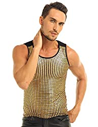 Men's Summer Sequin Slim Fit Sleeveless Vest