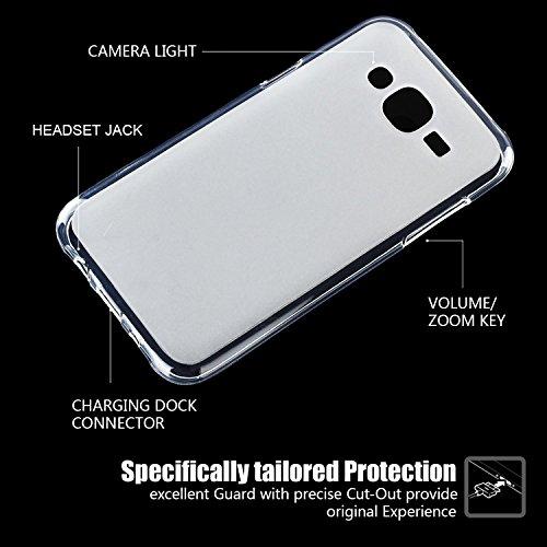 tinxi® Caso protector de la alta calidad de la PC y silicona para Samsung Galaxy J5 5,0 pulgadas antideslizante backcover prueba de golpes Protección Cubierta de la caja con el interior Oro mattiert Milchweiß