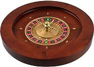 Trademark 10-1934 Poker 19.75-Inch Deluxe Wooden Roulette Wheel