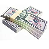 YooQn $5,000 Full Print New Style Money Copy of $50 Dollar Bills Stack, in Authentic Bank Strap.
