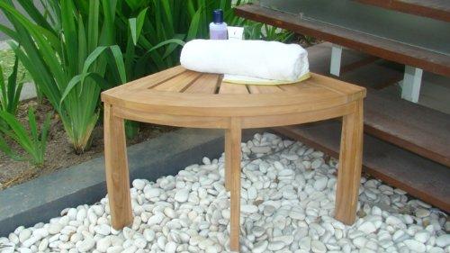 "SUPER SALE 19"" Grade-A All Teak Wood Corner Seat Shower B..."