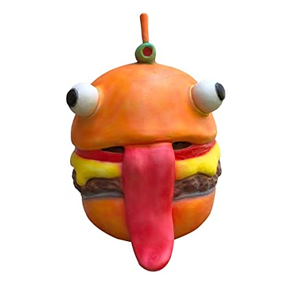 123Loop Hamburger Mask, Cosplay Durr Burger Mask Melting Face Latex Costume Halloween Scary Mask Toy