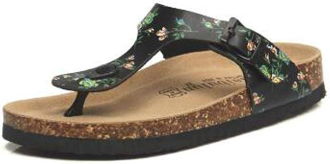 Sandalias de Corcho para Mujer con Soporte en Forma de T: Amazon.es: Deportes y aire libre