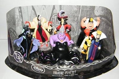 Disney Villains Exclusive Figure Set of 6 with Queen of Hearts, Maleficent, Ursula, Cruella De Vil, Captain Hook and More!