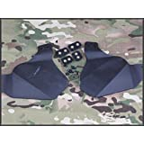 Military Paintball Ear Protective Tactical Rubber Side Cover for OPS CORE FAST Helmet Black