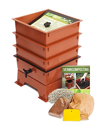 Worm Factory DS3TT 3-Tray Worm Composter, Terra - Design Terra Worm Cotta