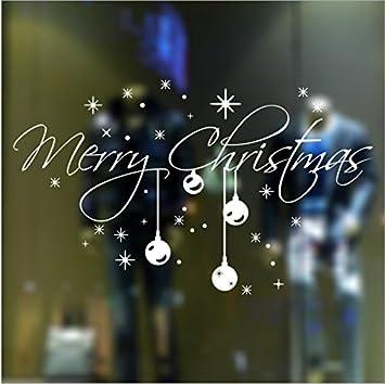 Christmas Snowflake Vinyl DIY Wall Stickers Christmas Decoration - Window stickers amazon uk