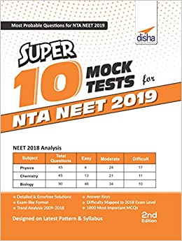 Buy Super 10 Mock Tests for NTA NEET 2019 Book Online at Low