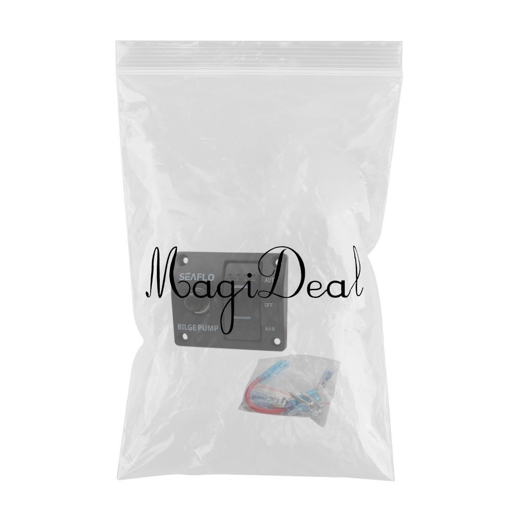 Manuale con Fusibile Incorporato MagiDeal Interruttore Pompa di Sentina A 3 Vie Seaflo Automatico//Spento