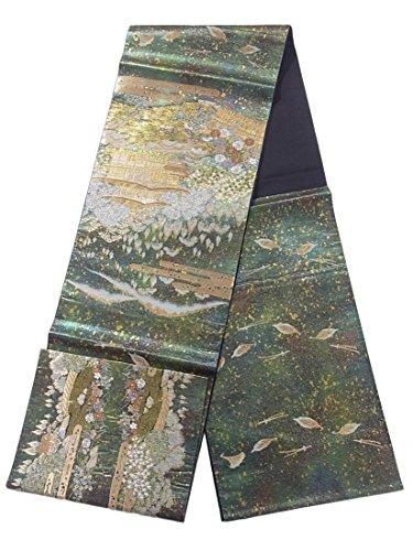 付属品広々とした子供時代リサイクル 袋帯 服部織物 洛西名園文 正絹