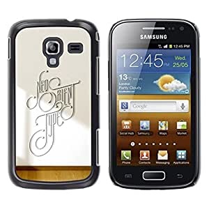LECELL -- Funda protectora / Cubierta / Piel For Samsung Galaxy Ace 2 I8160 Ace II X S7560M -- Different Typography --