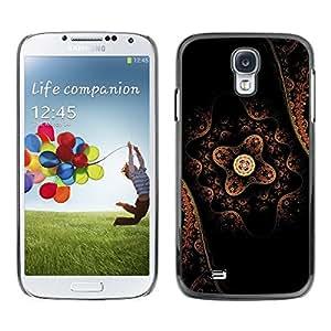 [Neutron-Star] Snap-on Series Teléfono Carcasa Funda Case Caso para Samsung Galaxy S4 [Patrón de arte oriental tradicional flor nativa]