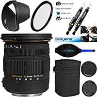 Sigma 17-50mm f/2.8 EX DC OS HSM Zoom Lens for Canon DSLRs with APS-C Sensors - Deal-Expo Bundle