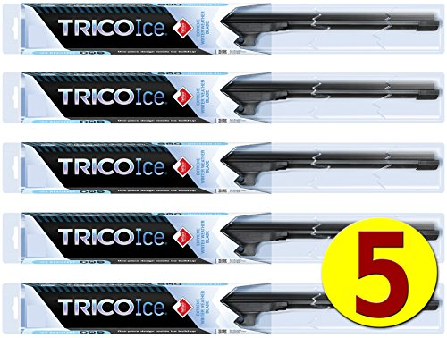 "5-Wiper Factory Master Case - Bulk WINTER Wiper Blades for Fleets & Service Repair Shops -   Beam Blade Winter Wipers for Snow & Ice fit Nearly Any Wiper Arm Attachment (22"") - TRICO 35-220"