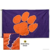 College Flags and Banners Co. Clemson Tigers Embroidered and Stitched Nylon Flag