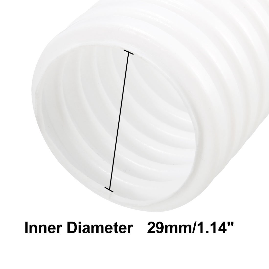 uxcell 2M Length 34.5mm Outside Dia Corrugated Bellow Conduit Tube for Electric Wiring a18040300ux0150