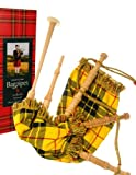 Kids Bagpipe Miniature Playable Bagpipe with Reed In Reed in MacLeod of Lewis Tartan