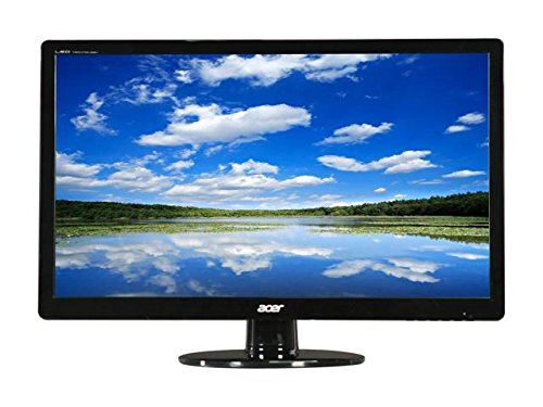 "Acer 23"" Full HD 1920 x 1080 Widescreen LCD with LED-backlit Stylish Ultra-thin Display Monitor, 16:9, 100,000,000:1, 5ms, 170° / 160°, 250 cd/m2, D-Sub, DVI, Black"