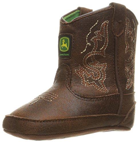 John Deere Baby Bab Dark Rust PO Pull-on Boot, Brown, 1 Medium US Infant