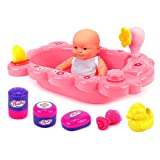 This simulation bathtub with toy is more than a toy,it can not only develop kids' right living habit,but also understand parents' hard to take care of their babies.help child develop good habits