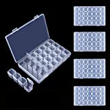 DOMIRE 5 Pack Diamond Embroidery Box Organizer Painting Storage Case 140 Grids for Cross Stitch Accessories