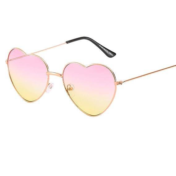 Mymyguoe Unisex Gafas de Sol en Forma de corazón para ...